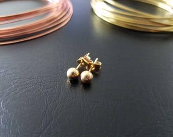 20g Gold 5mm Ball Earring Studs Minimalist Geometric Gold Ear lobe Cartilage Piercing Studs 316lvm Stainless Steel Titanium IP Earrings