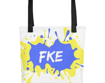 FKE school weather resistant fabric funky and fresh tote bag!