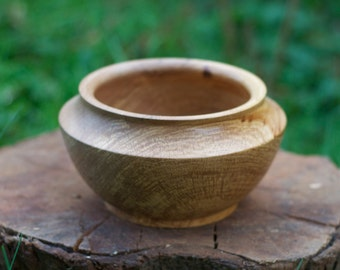 Spalted Elm wood Bowl Hand turned H 11cm x 19 cm