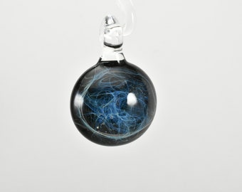 Galaxy Pendant, Silver Fumed Flameworked Boro, Number 55