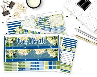 Warmes blau - monatliche Kit jeden Monat - Sticker