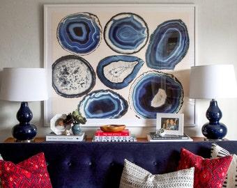 Agate Slice Art, Geode Print, Agate Print, Geode Wall Art, Agate Slice Art, Geode Slice Art, Home Decor, Gem and Mineral Art, Geode Art