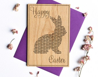 Easter Bunny Cards. Personalized Happy Easter Greetings Card.