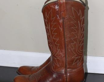 vintage dan post cowboy boots womens size 8
