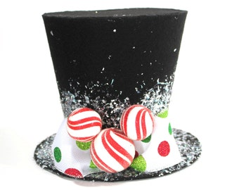 Mickey Mouse top hat, Christmas tree topper, Mickey's Magical Christmas New monogram option