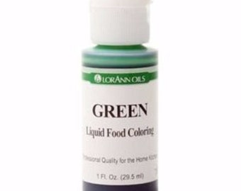 Green Food Coloring Food Color Liquid 1 Oz. Baking Cupcakes Candy Gluten Free Air Brush