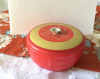 Vintage Dusting Powder jar, Avon Dusting Powder jar,Vintage Boudoir,Dusting Powder