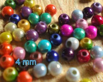 SET of 35 beads + 5 magical multicolor 3 mm in diameter