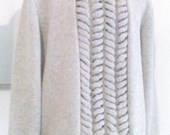 Pure Merino Wool Sweater, Oversized Cardigan, Premium Knit, Handmade, Kardasknitting