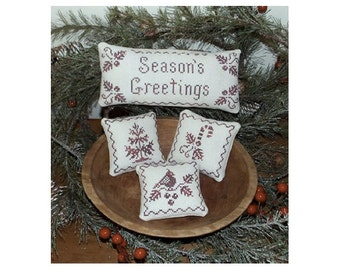Holiday Samplings- Cross stitch chart, instant download, Plum Pudding NeedleArt