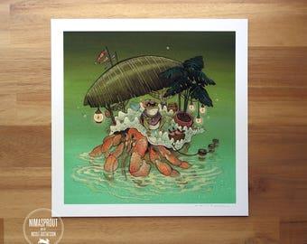 Frog Merchant - Fine Art Print by Nicole Gustafsson