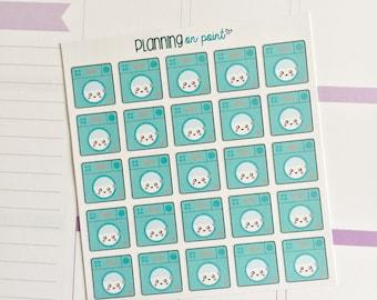 Kawaii Washing Machine Chores Planner Stickers!