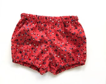 red star bloomers 4th of July - baby toddler girl bloomers