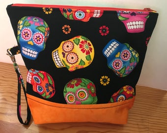 Project Bag, Knitting/Crochet Bag, Holds-Anything Bag, Purses Bag, Lightly Padded