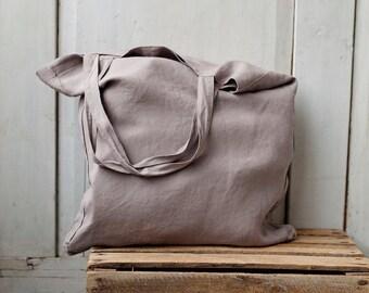 Linen Bag, Hand Bag, Travel Bag, Shopping Bag, Large Bag, Grocery Bag, Tote Bag,  Beach Bag, Canvas Bag, Martha Bag, Natural Linen
