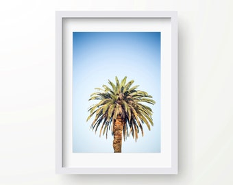 Palm tree, beach, Cronulla, Instant download, Art, Blue Sky, summer,