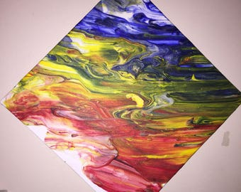 Rainbow Fog- one of a kind painting