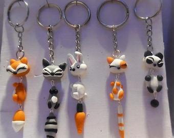 Keychain kawaii animals