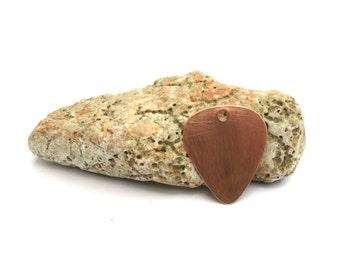 Guitar pick - Metal pet ID tag - Brass dog ID tag - Copper pet tag - Guitar pick brass / copper personalized hand stamped dog ID tag