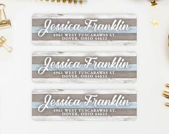 Address Labels / Beach Personalized Return Address Labels / Custom Address Labels / Address Sticker / Address Label Sticker / The Jessica