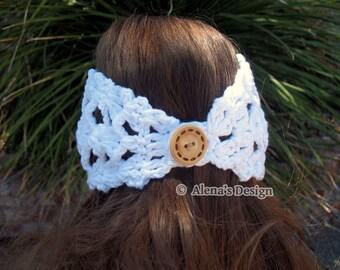 Crochet Pattern 078 for Headband Ella - Crochet Headband Pattern - Ear Warmer Pattern - Neck Warmer Pattern -  Head Wrap Girls Ladies Women