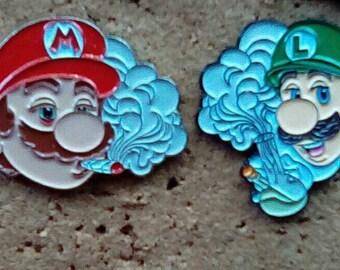 Mario / Luigi 420 pin set