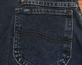 Vintage 1980s High Waisted Lee Mom Jeans Authentic Tapered Ankle