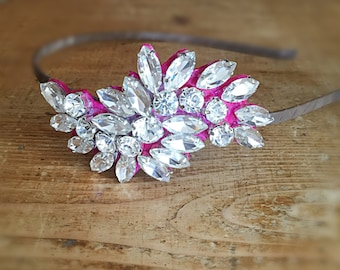 Diamanté Crystal Side Headband