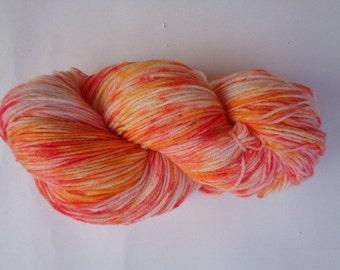 Hand Dyed Yarn, Cupcake - SW Merino/Nylon Fingering Wt.