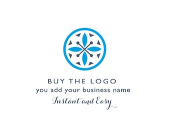 Blue logo, Instant logo download. Download the graphic and add your own business name. Quick and easy.