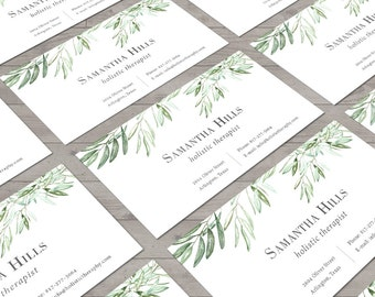 Olive Business Card, Business Card Design, Calling Card, Personal Card, Rustic Business Card, Olive Branch Design, Printable Cards