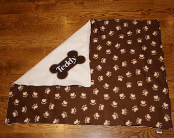 ON SALE Custom Dog Blanket Limited time only Reversible made to order dog blanket puppy blanket dog gift personalized dog blanket