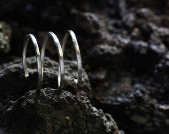 Silver Ring | Sterling Silver Ring | Spiral Ring | 90's Ring