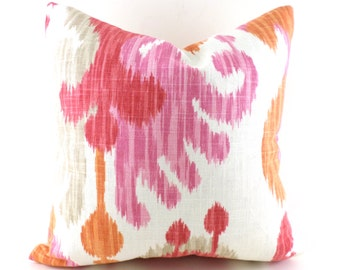Pillow Covers ANY SIZE Decorative Pillow Cover Pillows Home Decor Braemore Journey Ikat Fruity