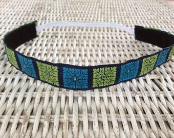 Blue Green Headband - Girls Headband - No Slip Headband - Kids Headband - Adult Headband - Fashion Headband - Hair Accessories