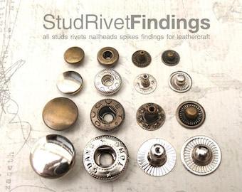 50sets 8mm SNAP spring button fastener