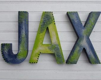Name Letters Boy - Name Letters Girl - Name Letters Rustic - Name Wall Letters - Baby Name Letters - Rustic Decor
