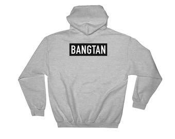 BTS Bangtan Boys TEAM Bangtan Name Tag Hooded Sweatshirt