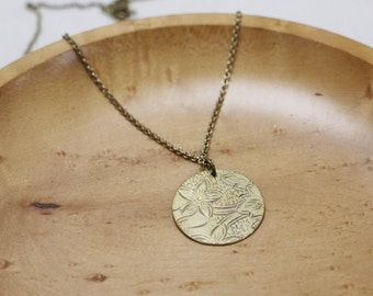 Coin necklace | brass necklace
