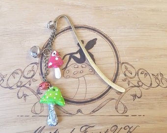 Handmade Bookmark, Page Marker, Planner Accessories, Toadstool Bookmark, Bookmark, Reading Aids, Christmas Gift, Book Worm, Stocking Filler