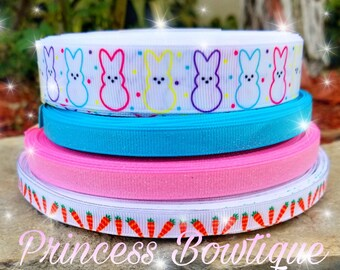 Easter ribbon,  Easter, bunny ribbon, crafts, ribbon, Easter bunny, peeps ribbon