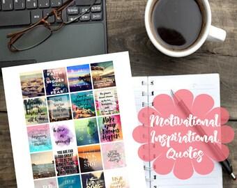Motivational/Inspirational Quotes Printable Planner Sticker for Erin Condren Planner