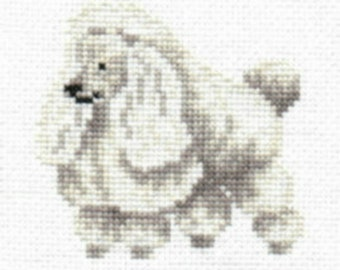 White Toy Poodle counted cross-stitch chart