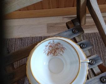 12 cups and saucers Floral pattern Haviland Limoges France