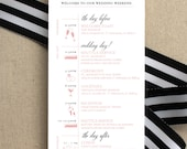 Wedding Day Timeline, Blu...