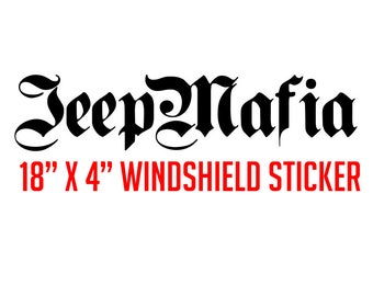 "JeepMafia Windshield Sticker | 18"" x 4"""