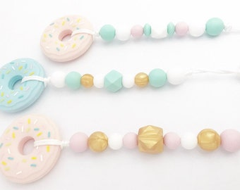 Donut Teether Clip // Baby // Toy // Play // Food // natural // gift // shower