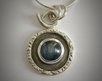 Sterling silver and kyanite necklace