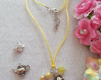 10 Teapot Necklaces Party Favors