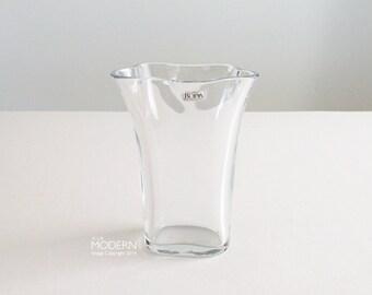 Boda Sweden Handmade Glass Flower Vase